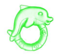 Canpol babies. Прорезыватель водный охлаждающий Дельфин, 0+, зеленый