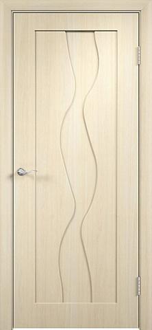 Дверь Вираж (беленый дуб, глухая шпонированная), фабрика Покрова