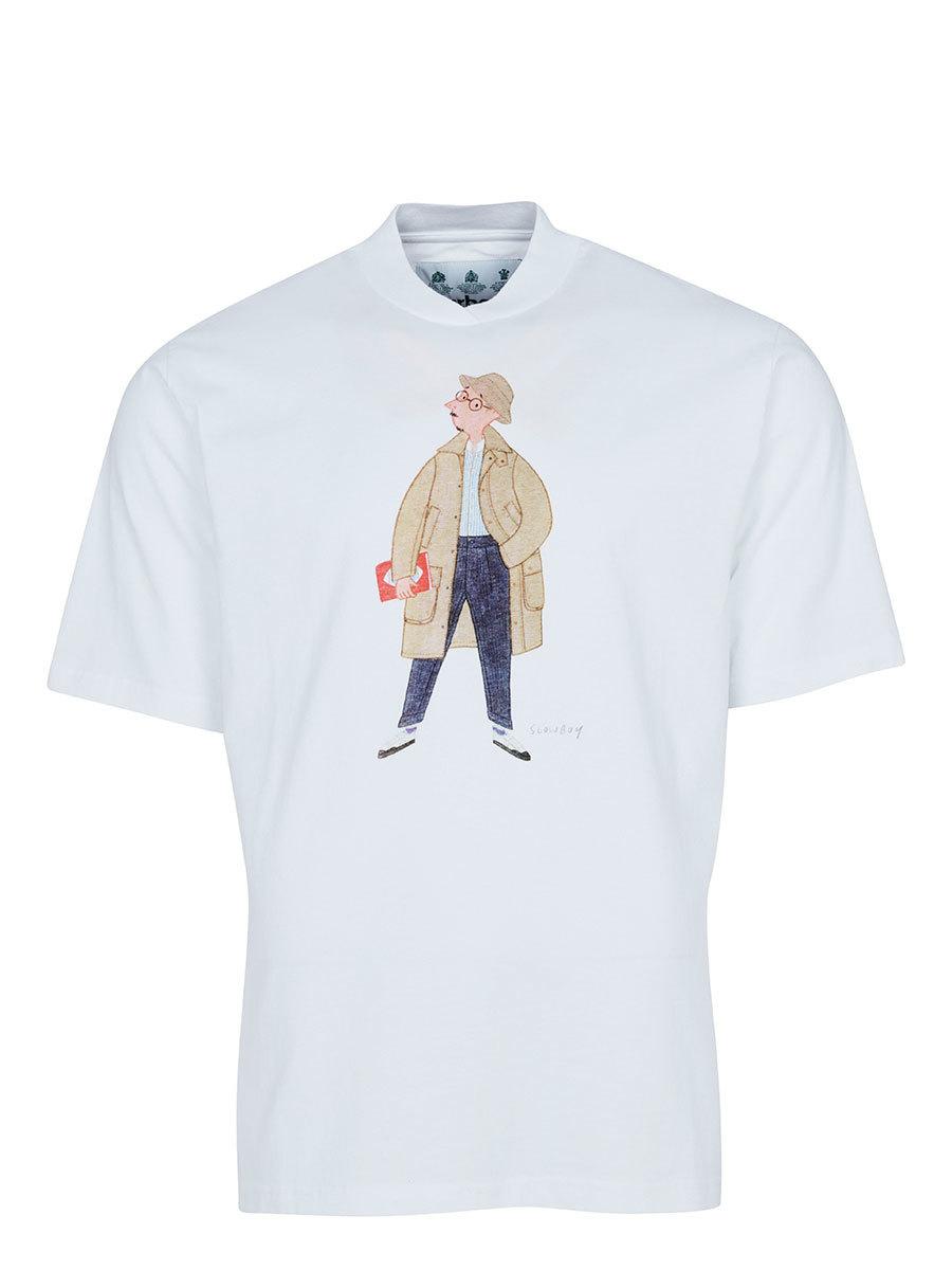 Barbour футболка Mr Slowboy Glasses Tee MTS0830/WH11