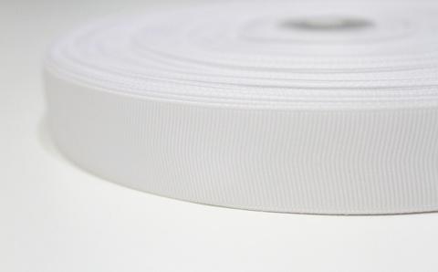 Лента белая репсовая 25мм