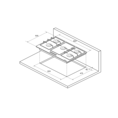 Варочная панель Kuppersberg FV9TGRZ ANT Silver - схема
