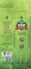 Карандаши цветные неокрашенный корпус ECO 2261, 6 цветов