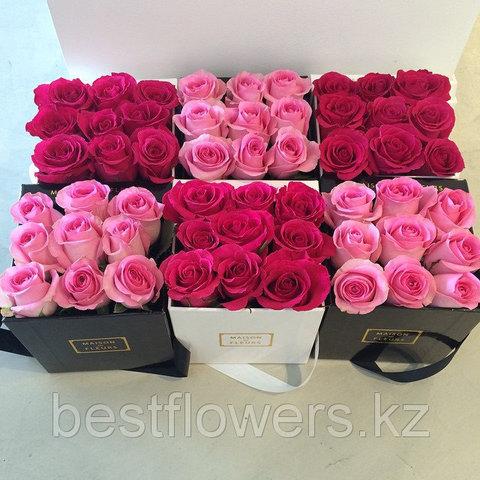 Коробка Maison Des Fleurs с розами 13