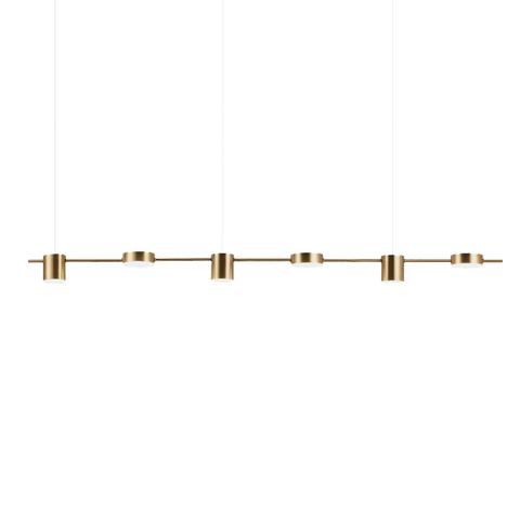 Подвесной светильник Linea by Light Room ( 6 плафонов, золотой )