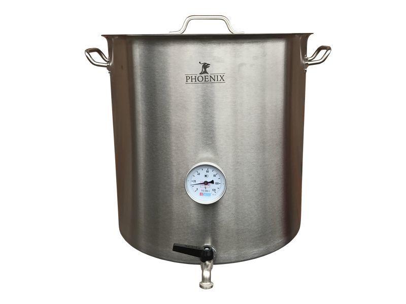 Домашние пивоварни Сусловарочный котел 21,2 л Пивоварня.ру с краном и термометром 011143_1.jpg