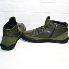 Демисезонные мужские ботинки на молнии термо Luciano Bellini BC2803 TL Khaki.