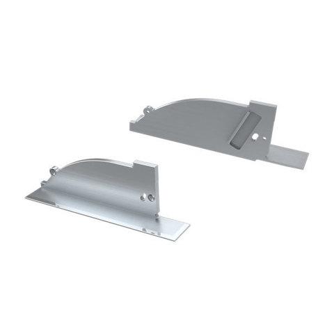 Заглушка для ALM-ARC-SIDE серая левая с отверстием (ARL, Металл)
