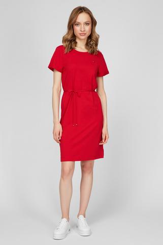 Женское красное платье TH COOL C-NK Tommy Hilfiger