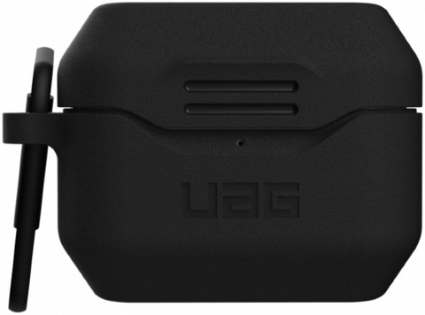 Чехол с карабином Urban Armor Gear (UAG) Standard Issue Silicone 001 Case для AirPods Pro, цвет Черный (Black)