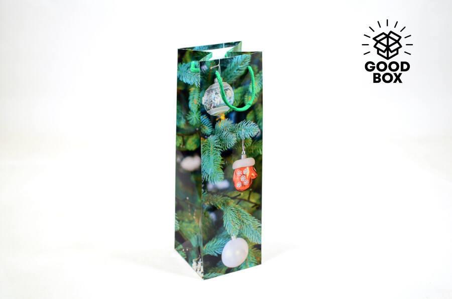 Новогодний пакет под бутылку