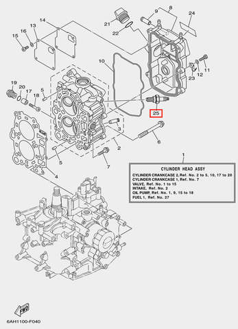 Свеча зажигания для лодочного мотора F20 Sea-PRO (4-25)