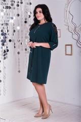 Ельга. Нарядне плаття великих розмірів. Смарагд