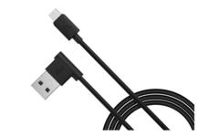 Кабель USB - microUSB 1,2м (угловой) Hoco черный