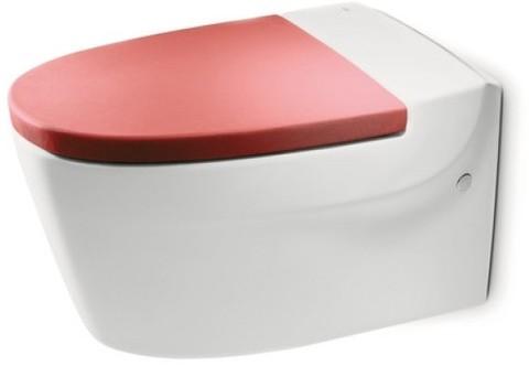 Подвесной унитаз ROCA KHROMA с сиденьем м/л (красное)