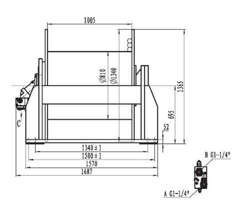 Стандартная лебедка IYJ488-350-199-44-ZPG