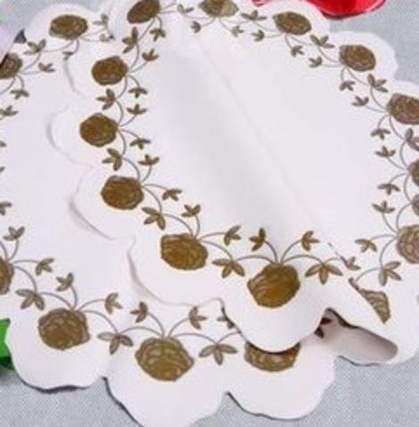 Салфетка Розочка (d=60см, упак.=50 шт.) Цвет: белый