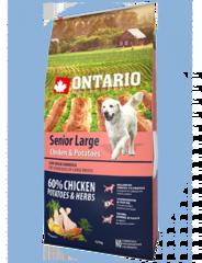 Корм для пожилых собак крупных пород Ontario Senior Large Chicken & Potatoes, с курицей и картофелем