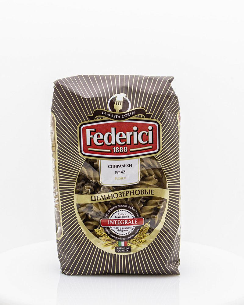 Макаронные изделия Цельнозерновые Спиральки Federici 400гр