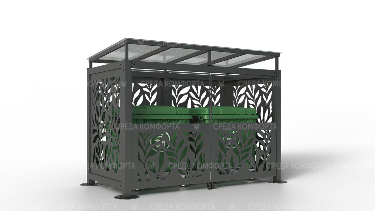 Контейнерная площадка ( с воротами) 3000х1500х2200 мм NVS0031