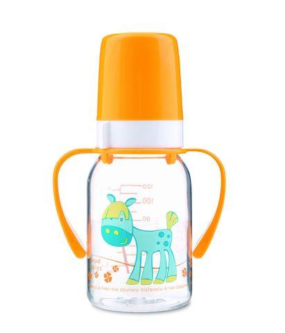 Canpol babies. Бутылочка Cheerful animals антиколиковая, тритановая, 3+, 120 мл, лошадка