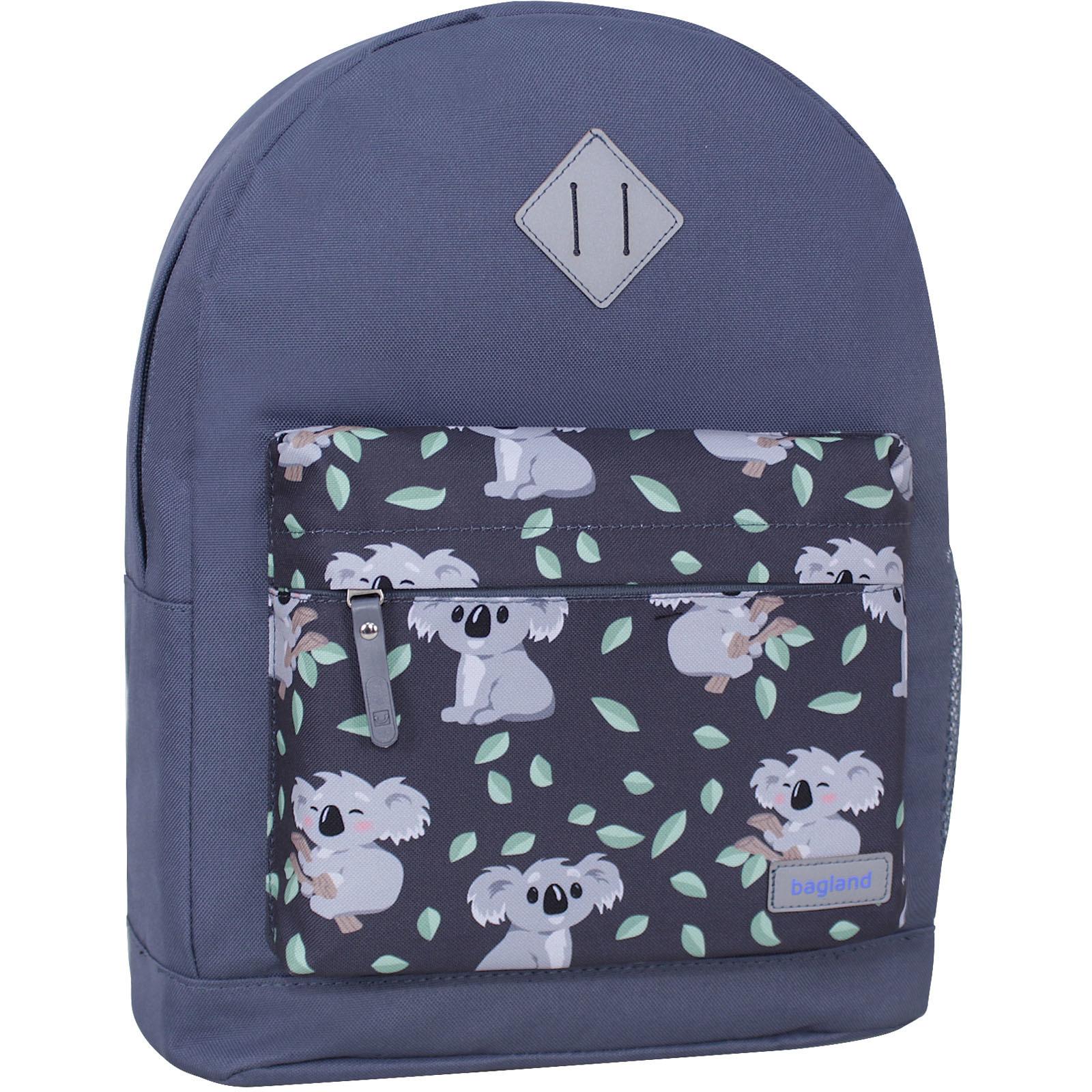 Женские рюкзаки Рюкзак Bagland Молодежный W/R 17 л. Серый 990 (00533662) IMG_1017__суб.990_.jpg
