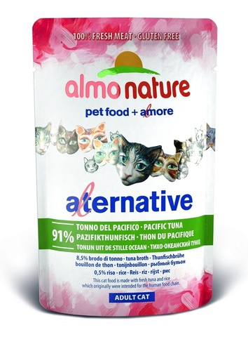 Паучи Almo Nature Alternative - Pacific Tuna
