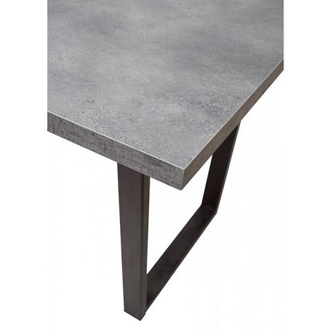 Стол Лофт Бетон Портленд / опора черная / 138(180)х85 см