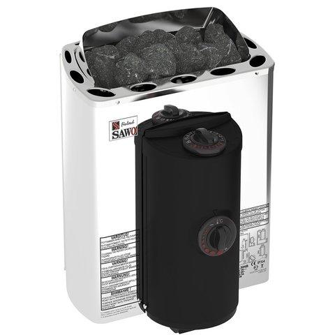 Электрическая печь SAWO MINI X MX-30NB-Z (3 кВт, встроенный пульт, внутри оцинковка, снаружи нержавейка)