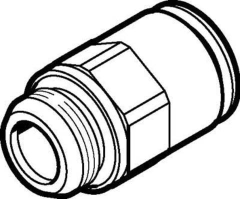 Штуцер цанговый Festo NPQM-D-G14-Q12-P10 (комплект 10 шт)