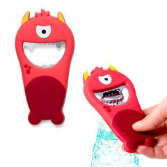 Открывалка Monster красная магнитная, фото 1