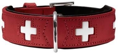 Ошейники Ошейник для собак Hunter Swiss 65 (51-58,5 см), кожа, красный/черный 41868.jpg