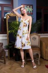 Платье белое подсолнухи