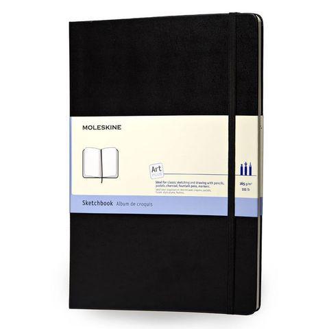 Блокнот для рисования Moleskine CLASSIC SKETCHBOOK ARTQP014 Pocket 90x140мм 80стр. твердая обложка черный