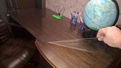 Мягкое стекло на письменном столе 60х120см толщина 2 мм