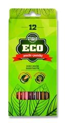 Карандаши цветные неокрашенный корпус ECO 2262, 12 цветов