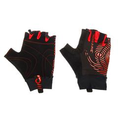 Велоперчатки JAFFSON SCG 46-0336 (чёрный/красный)