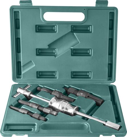 AE310012 Съемник подшипников с удлиненными цанговыми захватами за внутреннюю обойму и обратным молотком в наборе, диапазон захватов 10-32 мм