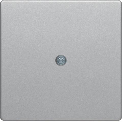 Лицевая панель для VDo-розеток и кабельного вывода. Цвет Алюминий. Berker (Беркер). Q.1 / Q.3 / Q.7. 10196084