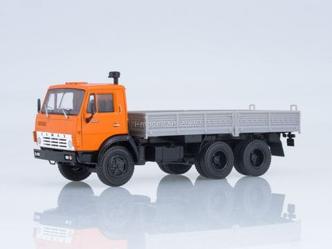 KAMAZ-5320 flatbed truck orange-gray 1:43 Our Trucks #19