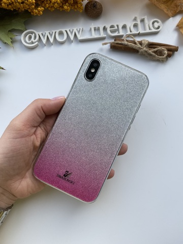 Чехол iPhone  XS Max Swarovski Case /pink/