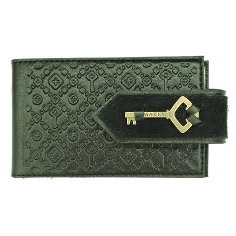 Визитница карманная «Ключ». Цвет зеленый