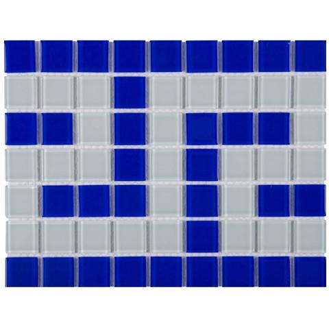 Фриз греческий Aquaviva Cristall сине-белый B/W / 16975