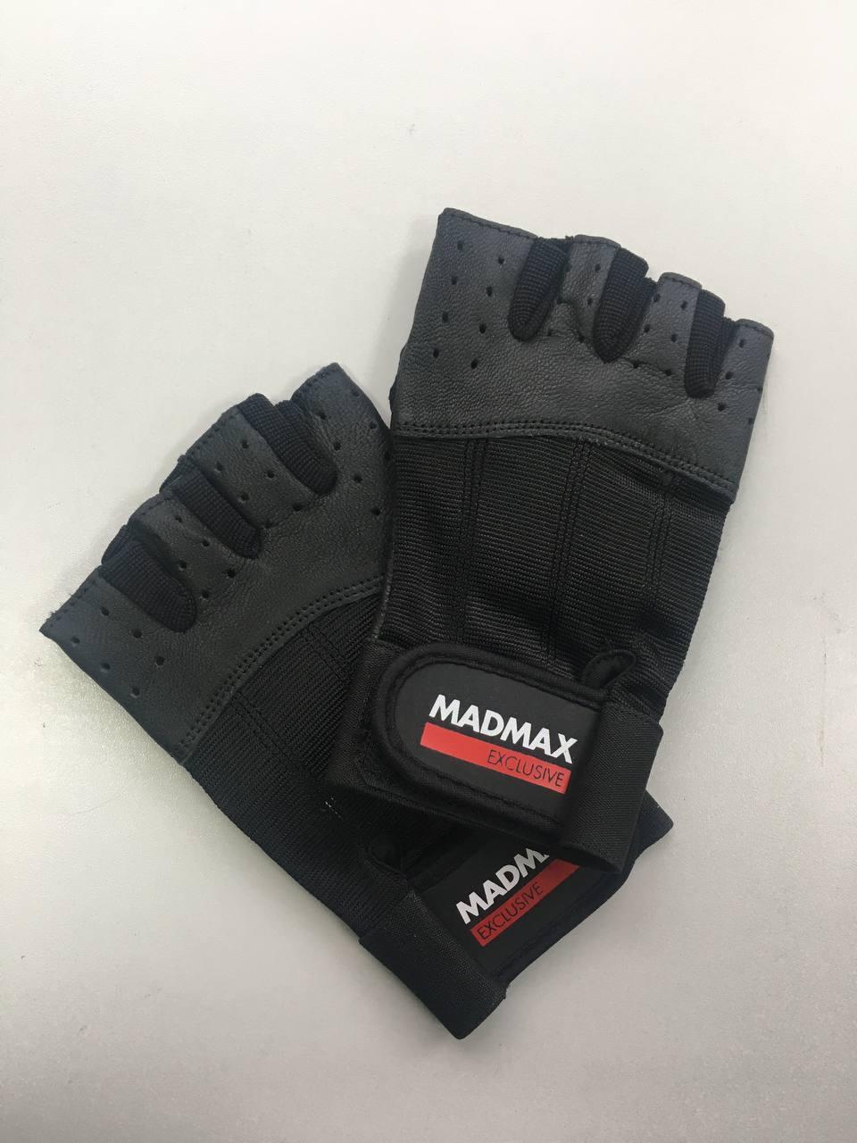 Мужские перчатки MadMax Classic MFG248 Black/Black