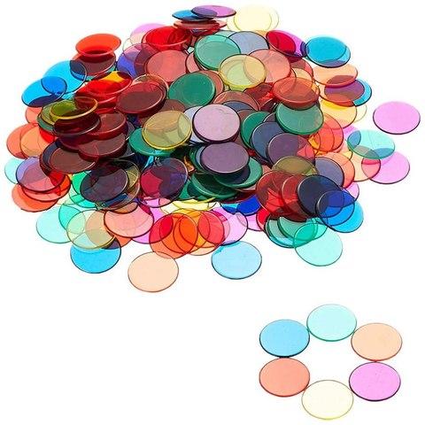 LER0131 Фишки для счета Прозрачные круги 250 шт. Learning Resources