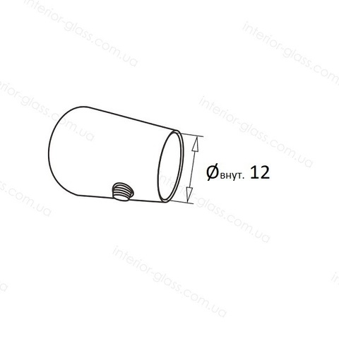 Заглушка леера D=12 мм ST-430