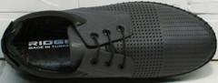 Кожаные летние туфли сникеры мужские Ridge Z-430 75-80Gray.