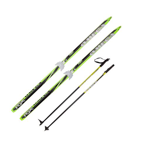 Лыжный комплект Omega Green №75 170/120см (Лыжный комплект Omega Green №75 195-145см (ост))