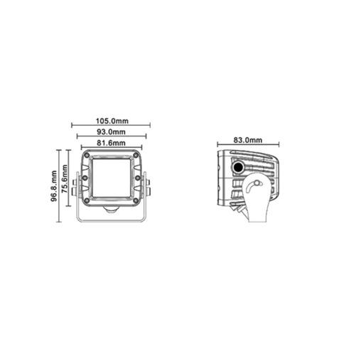 Светодиодная фара  2 рабочего  света Аврора  ALO-W1-K-2-E4T ALO-W1-K-2-E4T  фото-4