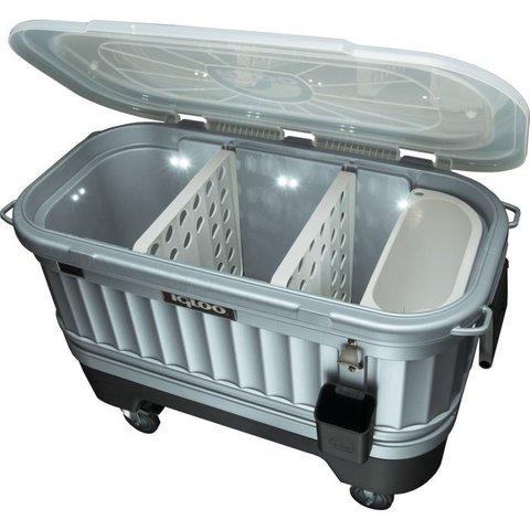 Изотермический контейнер (термобокс) Igloo Party Bar (118 л.), серый