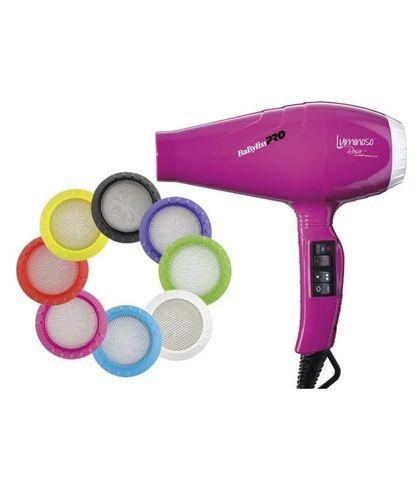 Фен BaByliss Pro Luminoso, 2100 Вт, 2 насадки, розовый